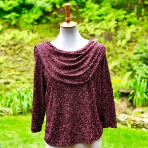 VTG Dress Barn Woman Collection Pink & Black Top